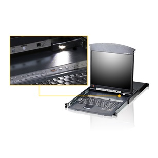 "ALTUSEN KVM Konzol LCD 17"" + Switch 8port"