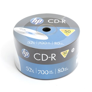 HP CD-R 700MB  50db/csomag 52x
