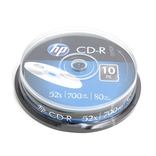 HP CD-R 700MB  10db/henger 52x