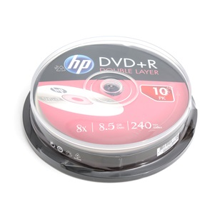 HP DL DVD+R 8,5Gb  10db/henger 8x