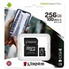 KINGSTON Memóriakártya 256GB MicroSDXC Canvas Select Plus 100R A1 C10 + Adapter