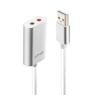 LINDY Adapter USB - 2x 3,5mm jack