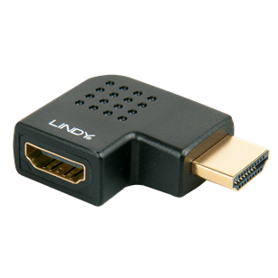 LINDY HDMI M/F balra forduló adapter, fekete