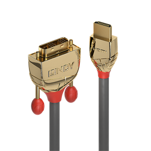 LINDY Kábel HDMI - DVI, High Speed Gold Line,   2m - 20 ÉV GARANCIA