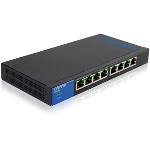LINKSYS PoE Switch LGS108P Gigabit 8 port