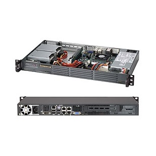 SUPERMICRO Ház rack 1U mini-ITX CSE-504-203B