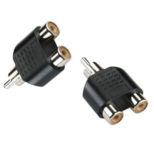 VALUELINE Stereo  Audio adapter RCA apa - 2x RCA anya fekete