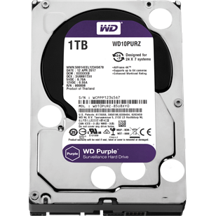 "WD HDD SATA3 Purple 3.5"" 64MB 1000GB"