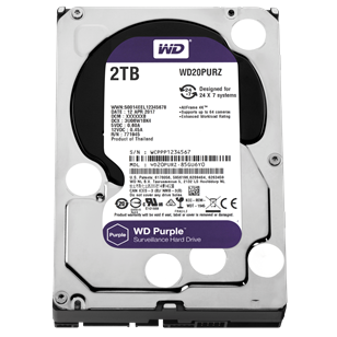 "WD HDD SATA3 Purple 3.5"" 2TB (2000GB) 64MB"
