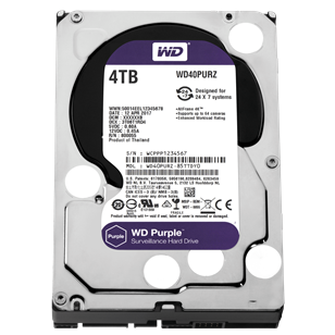 "WD HDD SATA3 Purple 3.5"" 4TB (4000GB) 64MB"
