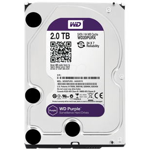 "WD HDD SATA3 Caviar Purple 3.5"" 64MB 2000GB"